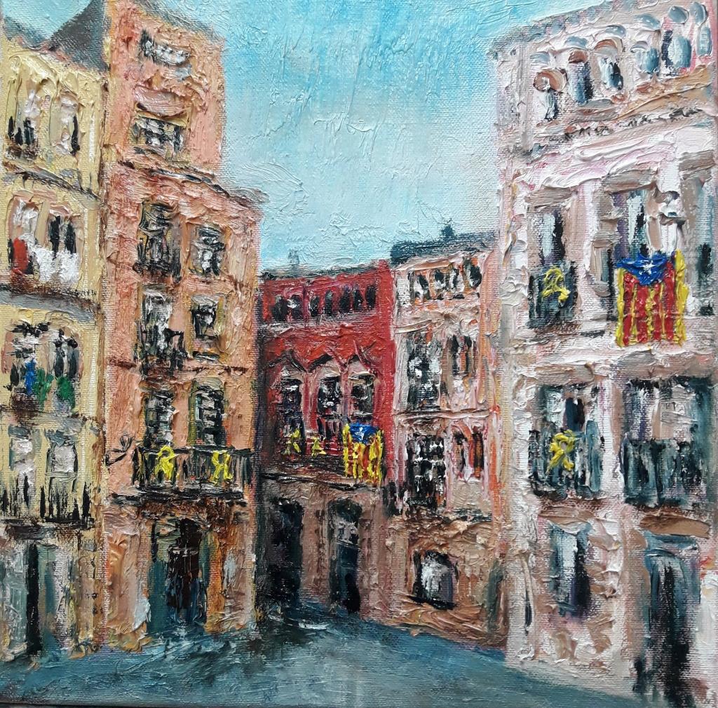 Vic (2019), Oil, canvas, 30x30 cm